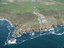 Aerial view of rocky coast Stock Photography