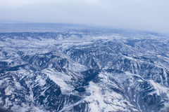 Aerial view of Rocky Mountains Stock Photo