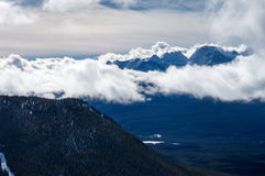 Aerial View of Rocky Mountains Royalty Free Stock Photo