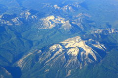 Aerial View Rocky Mountains Royalty Free Stock Image