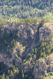 Aerial view of the rocky terrain in South Dakota Royalty Free Stock Image