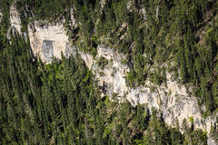 Aerial view of the rocky terrain in South Dakota Royalty Free Stock Photography