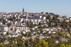 Aerial view of Rodez. Aerial view of the French city of Rodez, is his church on a sunny day Royalty Free Stock Image