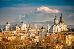 Aerial view of Rome Royalty Free Stock Images