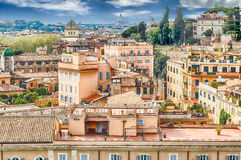 Aerial view of Rome city centre from the Palatine Hill Stock Photography