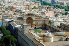 Aerial view of Rome city from St Peter Basilica roof Stock Photos