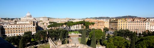 Aerial view of Rome, Italy Royalty Free Stock Photography