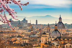 Aerial view on Rome, Italy. View of Rome from Castel Sant`Angelo Stock Image