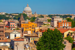 Aerial view of Rome, Italy Royalty Free Stock Image