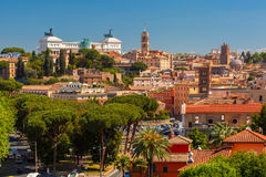 Aerial view of Rome, Italy Royalty Free Stock Images