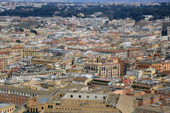Aerial view of Rome Royalty Free Stock Photos