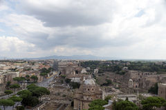 Aerial view of Rome Royalty Free Stock Image