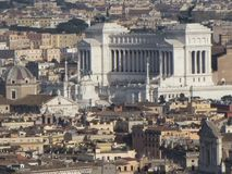 Aerial View of Rome Stock Photo