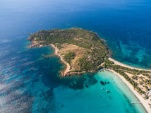 Aerial  view  of Rondinara beach in Corsica Island in France Stock Photos