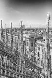 Aerial view from the roof of the Cathedral, Milan, Italy Stock Photos