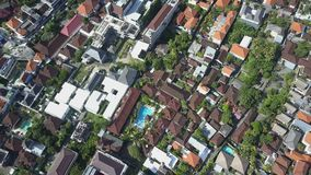 Aerial view on the roof hotels and builds stock video