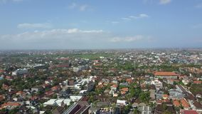 Aerial view on the roof hotels and builds stock video footage