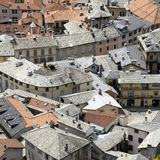 Aerial view of roofs Royalty Free Stock Photography