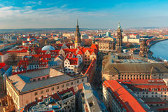 Aerial view of roofs Dresden, Germany Royalty Free Stock Photos