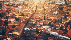 Aerial view on roofs of old city. royalty free stock image