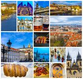 The aerial panorama of roofs at old town Prague, Czech republic. The aerial view of roofs at old town Prague, Czech republic Royalty Free Stock Photo