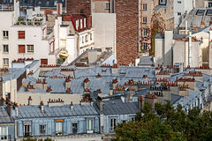Aerial view with roofs at Paris Stock Photo