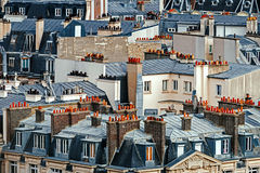 Aerial view with roofs in Paris, France Stock Photography
