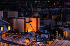Aerial view of roofs in Paris Stock Photos