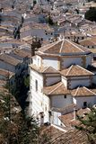 Aerial view of roofs of the white villages Stock Image