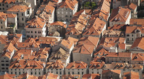 Aerial view of the rooftops of Dubrovnik Stock Images