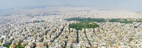 Athens, Greece. Aerial view on rooftops and houses in Athens, Greece stock photos