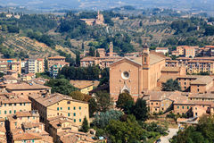 Aerial View on Rooftops and Houses of Siena Royalty Free Stock Photos