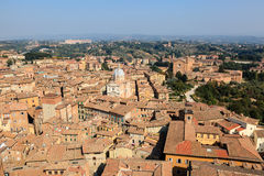Aerial View on Rooftops and Houses of Siena Stock Photo