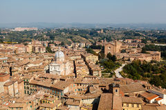 Aerial View on Rooftops and Houses of Siena Royalty Free Stock Photography