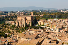 Aerial View on Rooftops and Houses of Siena Stock Photos