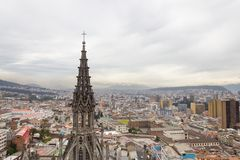 Aerial view rooftops Quito Ecuador South America Stock Photos