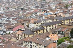 Aerial view rooftops Quito Ecuador South America Stock Photography