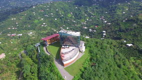 Aerial view of ropeway Argo in Batumi stock video