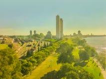 Aerial View of Rosario Coast Stock Photo