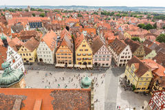Aerial view of Rothenburg ob der Tauber Stock Photo
