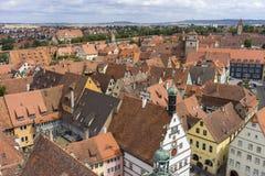 Aerial view of Rothenburg ob der Tauber Stock Photos