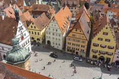 Aerial view of Rothenburg ob der Tauber Royalty Free Stock Photos