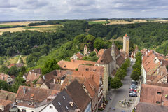 Aerial view of Rothenburg ob der Tauber Stock Image