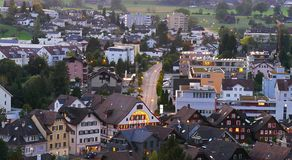 Aerial View of Rothenburg, Switzerland royalty free stock images