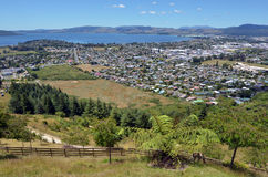 Aerial view of Rotorua city, New Zealand. Stock Images