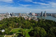 Aerial view of  Rotterdam. In the Netherlands, Europe Royalty Free Stock Photos
