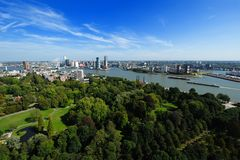 Aerial view of  Rotterdam. In the Netherlands, Europe Stock Photography