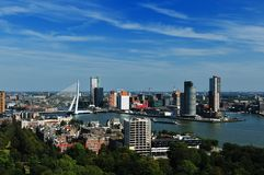 Aerial view of  Rotterdam. In the Netherlands, Europe Stock Image