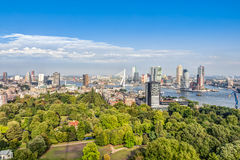 Aerial view of Rotterdam. Aerial view of the modern city center of Rotterdam Stock Photography