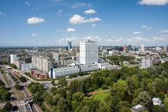 Aerial view of Rotterdam, the Netherlands Royalty Free Stock Image